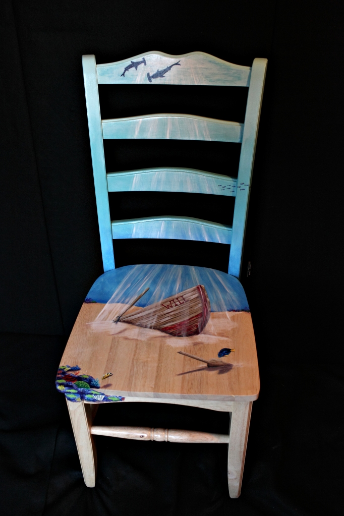 Hand painted dining chair
