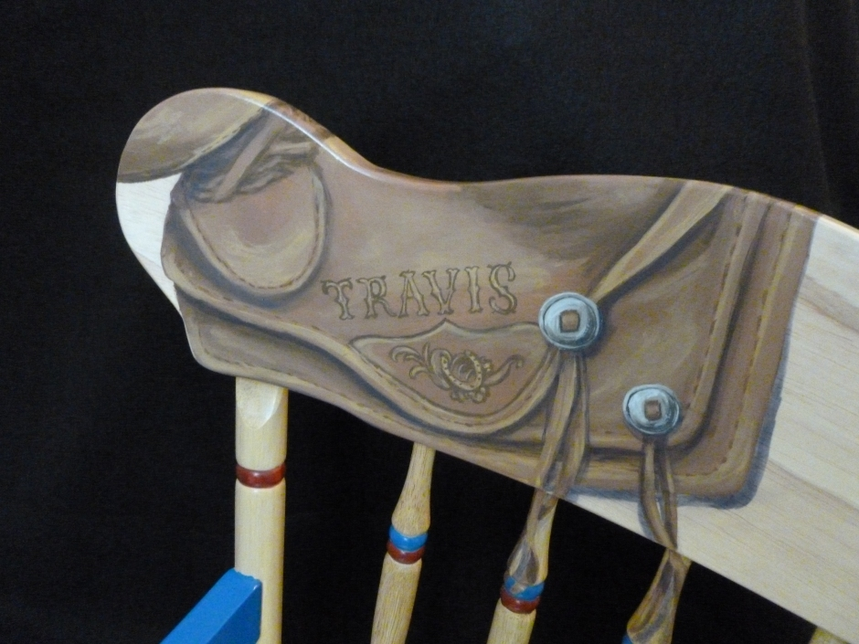 Handpainted rocking chair-5
