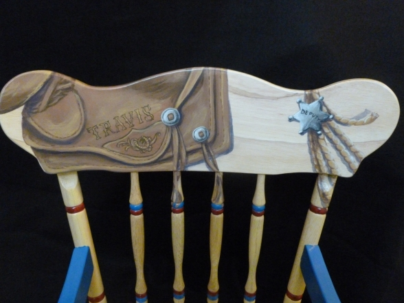 Handpainted rocking chair-3