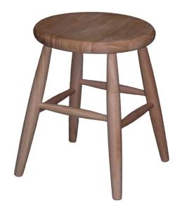 Round scoop seat stool